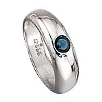 Christening ring pendant BARNABY gold 333 sapphire blue