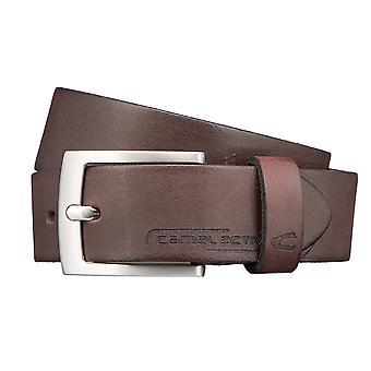 Ceintures de cuir camel active ceinture, ceintures pour hommes peuvent être raccourcie Brown 2829