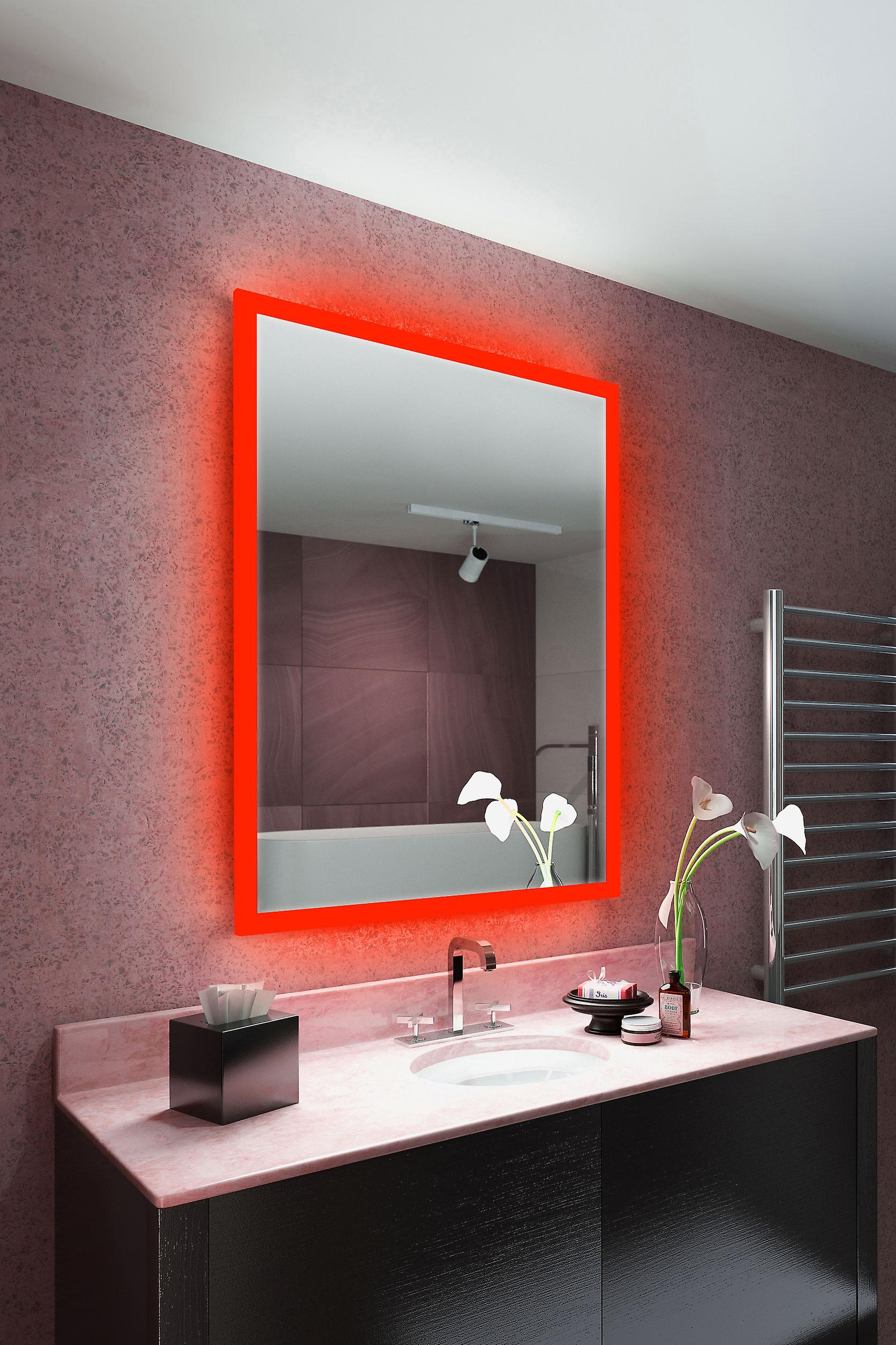 RGB Shaver LED Mirror with Demister pad & sensor m1418ivrgb