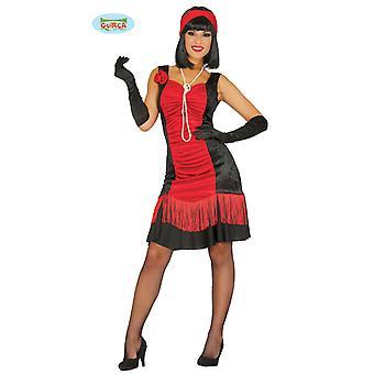 Vestido Charleston rojo carnaval 20s tema fiesta de disfraces para las señoras vestido de flecos para fin de año