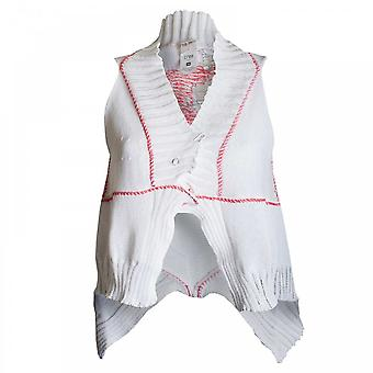Crea Concept Women's Open Knit Sleeveless Waistcoat