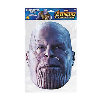 Thanos Infinity War Official Marvel Single 2D Card Party Fancy Dress Mask