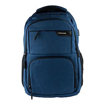 15.6 inch Laptop Backpack/USB port, large capacity-blue