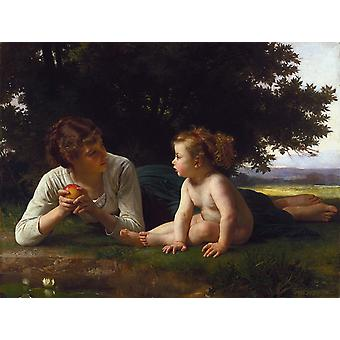 Temptation, Adolphe William Bouguereau, 50x40cm