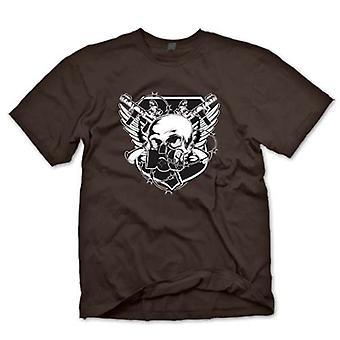 Детские футболки-череп с противогаз & скрещенных пушки дизайн