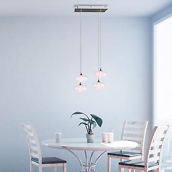 Brillcool Luna Nickel fyra hängande Led belysning fixtur Square Canopy