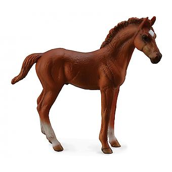 CollectA Thoroughbred foal Standing - Chestnut