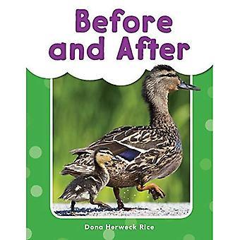 Avant et après (Grades Pre K-K) (mes lecteurs mots)