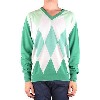 Ballantyne Ezbc099031 Men's Green Cashmere Sweater