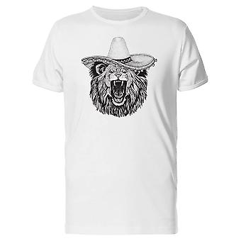 Lion Head With Mexican Hat Tee Men's -Image by Shutterstock