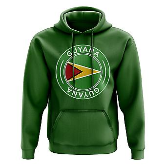 Guyana Football Badge Hoodie (verde)