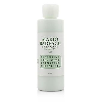 Mario Badescu Cleansing Milk With Carnation & Rice Oil - For Dry/ Sensitive Skin Types - 177ml/6oz