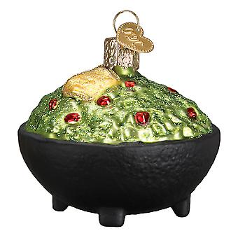 Old World Christmas Bowl of Guacamole Dip Holiday Ornament Glass