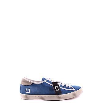D.a.t.e. Ezbc177019 Men's Light Blue Fabric Sneakers