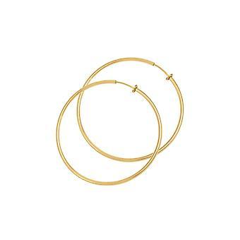 Eternal Collection Hoopla 25mm Gold Tone Clip On Hoop Earrings