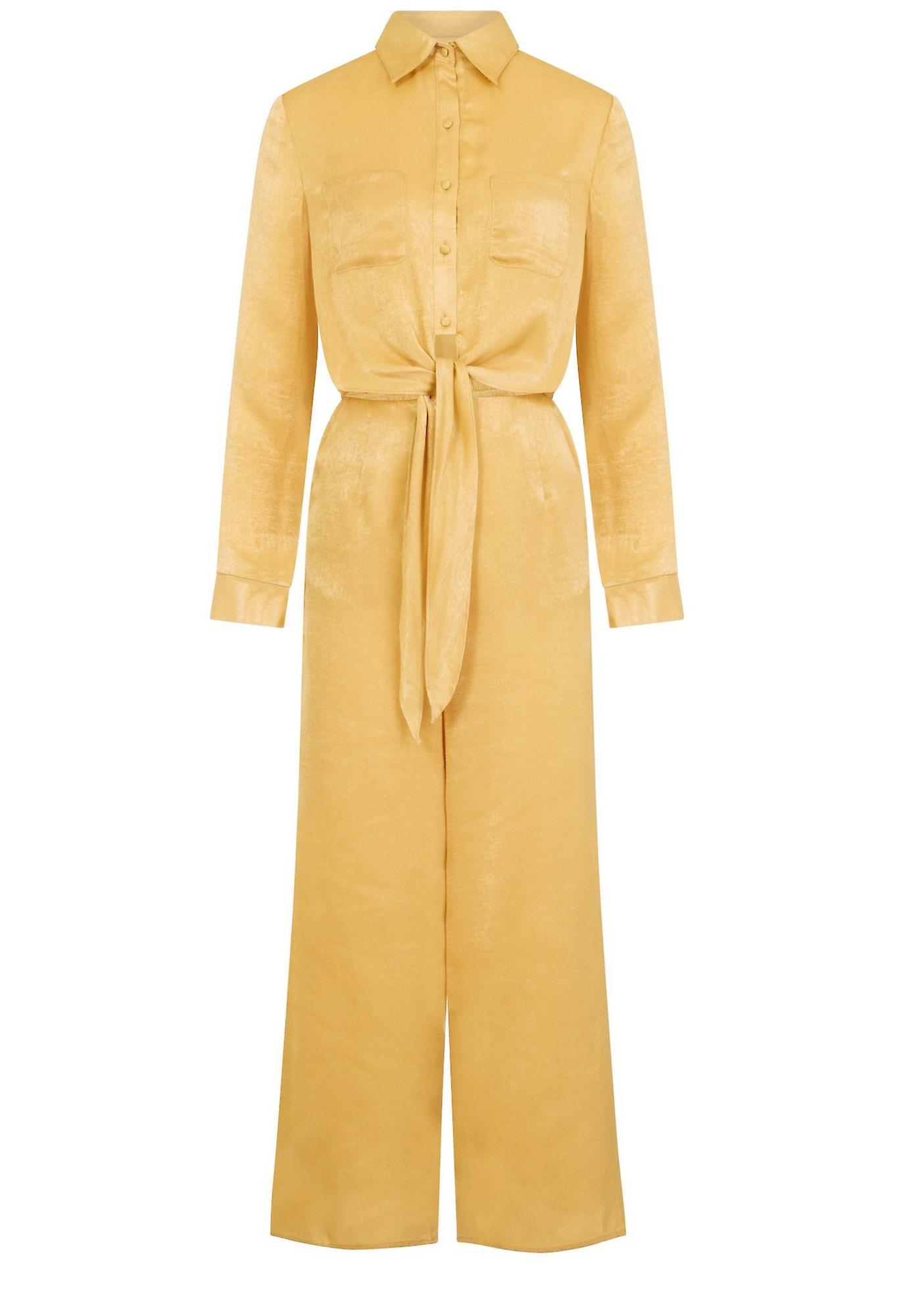 Girls On Film Womens/Ladies Satin Utility Jumpsuit