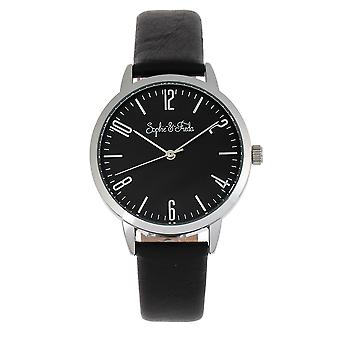 Sophie et Freda Vancouver Leather-Band Watch - Noir