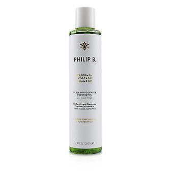 Champú de aguacate Philip B Peppermint (envigorizante de cuero cabelludo - Todos los tipos de cabello) - 220ml/7.4oz