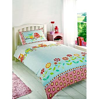 Owls Duvet Cover and Pillowcase Set