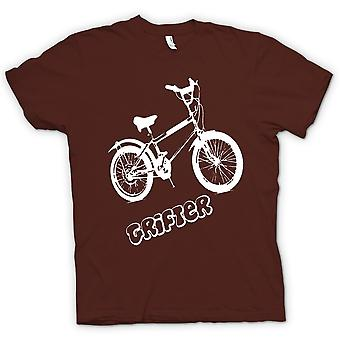 Mens T-shirt - Grifter - altes Skool Retro Fahrrad