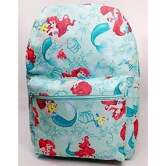 Backpack - Disney - Mermaid Ariel Light Green All-over 16