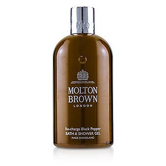 Molton Brown Re-charge Black Pepper Bath & Shower Gel - 300ml/10oz