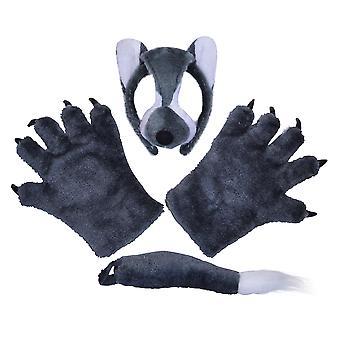 Bristol Neuheit Kinder/Kinder Unisex drei Stück Wolf Kostüm