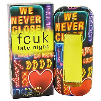 Fcuk late night eau de toilette spray by french connection 498355 100 ml
