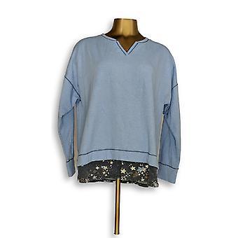 Cuddl Duds Women's Petite Sleepshirt Comfortwear Novelty Blue A310294