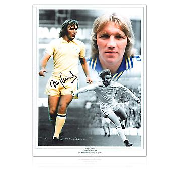 Tony Currie Signed Leeds United Photo