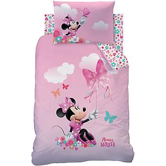 Minnie Mouse Papillon Junior Duvet Cover e Pillowcase Set