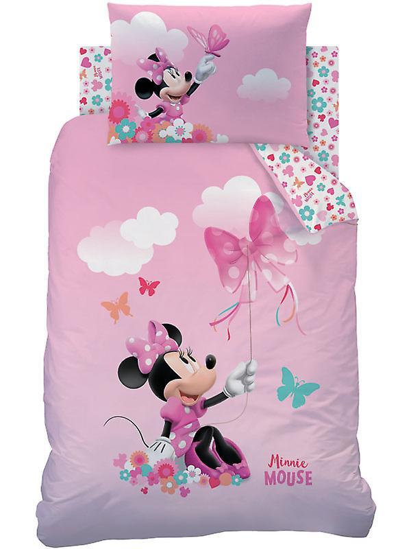 Minnie Mouse Papillon Junior Duvet Cover and Pillowcase Set