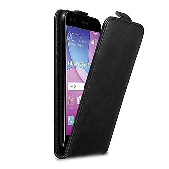Cadorabo Hülle für Huawei Y6 PRO 2017 Case Cover - Handyhülle im Flip Design mit Magnetverschluss - Case Cover Schutzhülle Etui Tasche Book Klapp Style