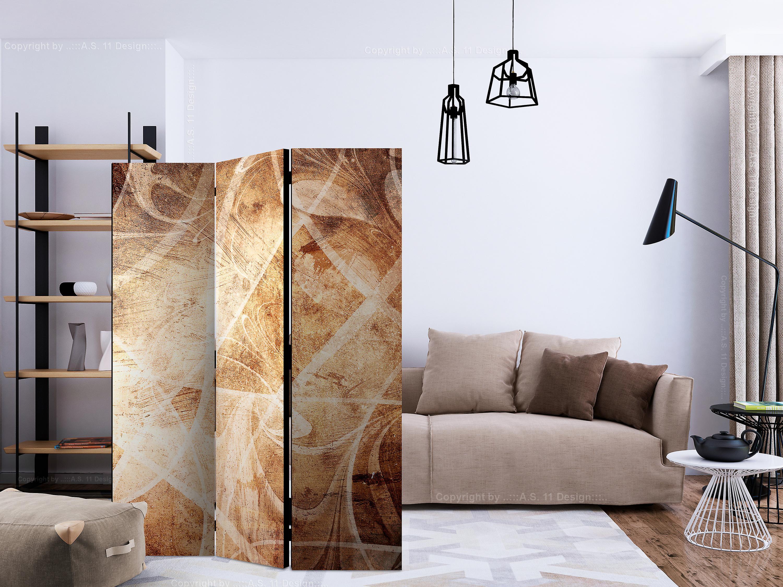 Paravent 3 volets - Brown Texture [Room Dividers]