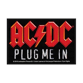 AC/DC stik mig i sy-på klud patch 100mm x 65mm (RZ)