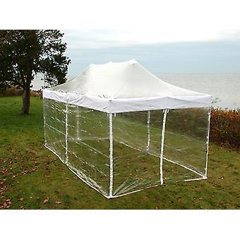 Vouwtent/Easy up tent FleXtents PRO 4x6m Doorzichtig, inkl. 8 Zijwanden