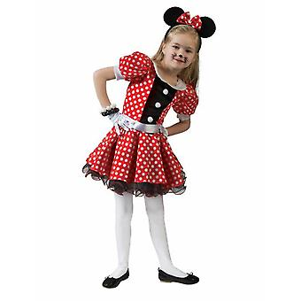 Costume Souris Enfants Enfants Costume Souris Fille Rouge Blanc Dotted Dress Carnival Carnaval