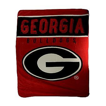 NCAA Georgia Bulldogs Micro Raschel Plush Throw Blanket