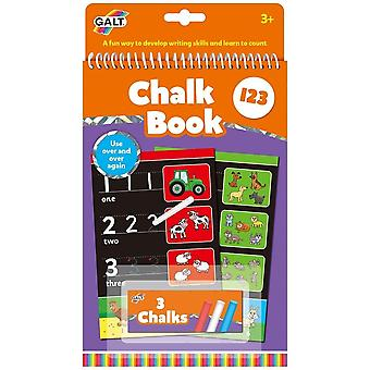 Galt Chalk Book - 1 2 3 - Re-usable Book & Chalks