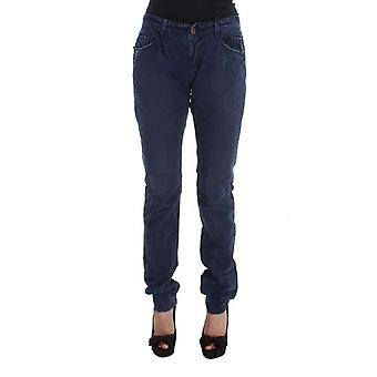 Blue Cotton Blend Denim Jeans -- SIG3083269