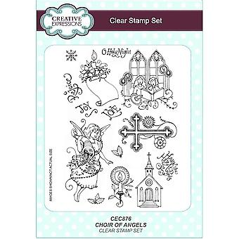 Creative Expressions Choir of Angels A5 Clear Stamp Set