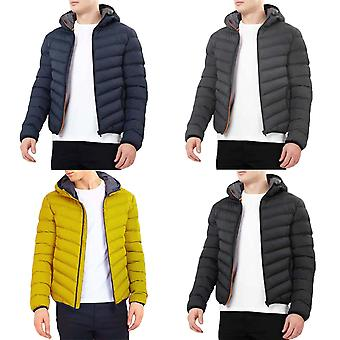 Brave Soul Mens Grant Long Sleeve Zip Up Hooded Warm Winter Puffer Jacket Coat