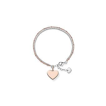 Thomas Sabo Love Bridge Double Strand Heart Bracelet LBA0102-415-12