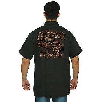 Trabajo mecánico camiseta Junkyard genuino Garage hombres