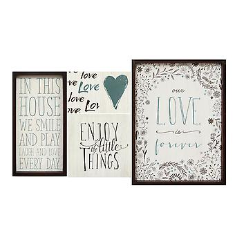 """24"""" X 1"""" X 18"""" 5Pcs Multi-color Love Is Forever Wall Art"""