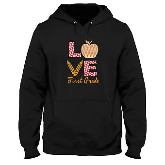 Black men's hoodie gen0918 love first grade