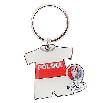 EURO 2016 Poland Flag Football Supporters Keyring
