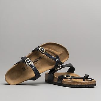 Birkenstock Mayari 1009103 (reg) Dames Birko-flor Cross Strap Sandals Magic Snake Black