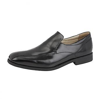 TredFlex Teaman Mens Leather Slip On Black