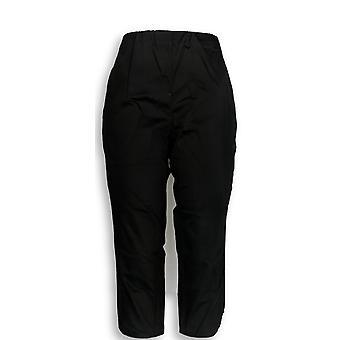 C. Wonder Women's Petite Pants 10 Cotton Sateen Crop Black A302799